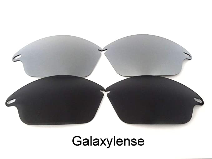 b16383cf389 Amazon.com  Galaxy Replacement Lenses For Oakley Fast Jacket Not For Fast  Jacket XL Black Titanium Polarized  Clothing