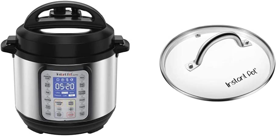 Instant Pot Duo Plus Mini 3 Quart 9-in-1 Electric Pressure Cooker, 15 One-Touch Programs & Tempered Glass Lid, Clear 7.6 Inch, Mini 3 Quart