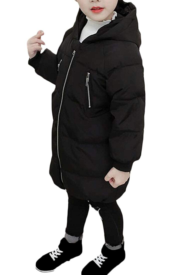 Sweatwater Girls Slim Fit Outerwear Warm Quilted Hooded Cute Parkas Coats