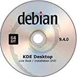 Debian Linux, Live Boot / Installation DVD, Version 9.4.0, KDE Desktop, 64bit