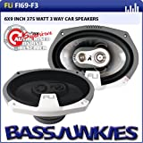 "FLI Audio Integrator 69 6x9"" inch 160mm x 230mm 3-Way Triaxial 375 Watts Car Rear Parcel Shelf Coaxial Speakers Set"