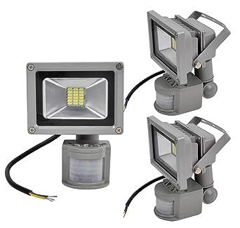 3X 20W SMD Foco LED con Sensor Movimiento,Proyector LED Exterior ...