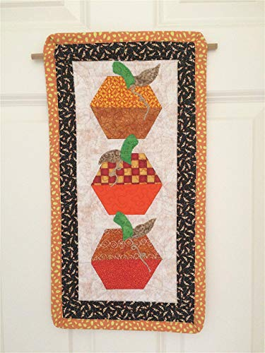 Harvest Thanksgiving Quilted Pumpkin Wall Hanging, Door Decoration -