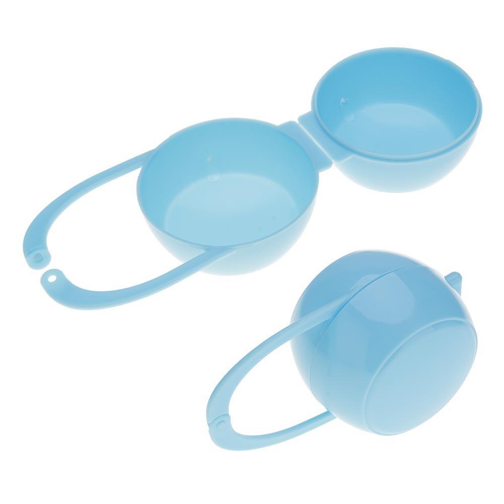 VANKER 1PC Portable Baby Soother chupete Maniquí Viaje Caja de almacenamiento de la caja -- Azul