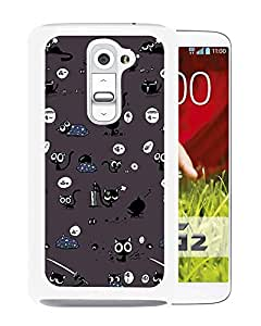 Cute Black Cat Pattern (2) Durable High Quality LG G2 Phone Case