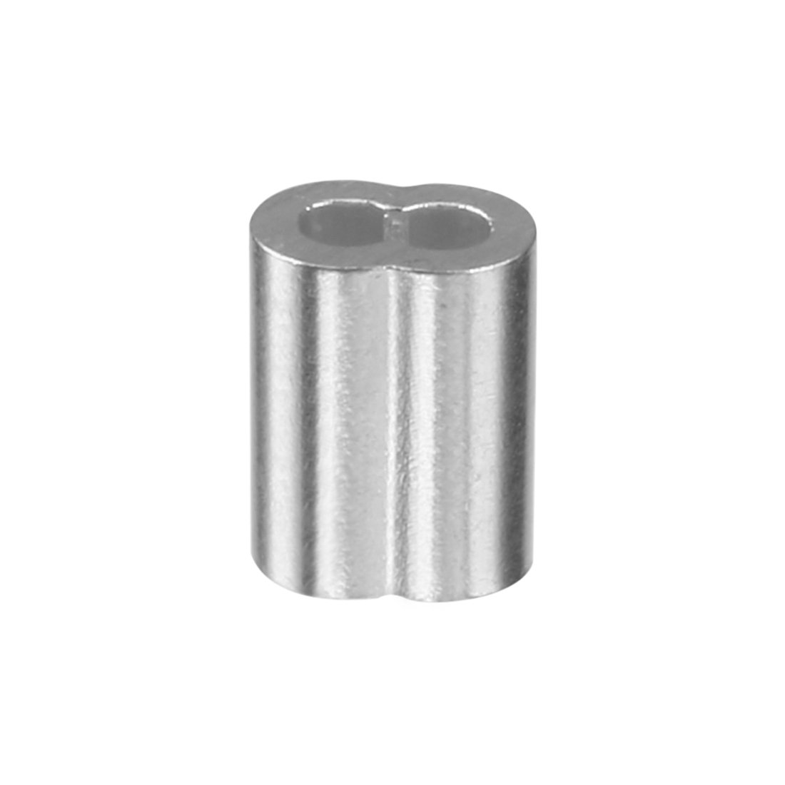 uxcell 0.04 inch (1mm) Diameter Wire Rope Aluminum Sleeves Clip ...