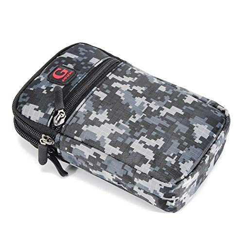DFV mobile Multipurpose Belt Case Naval Military Army Camouflage for => Nokia X3-02 RM-775 > Black (17.5 x 10 cm) (X3 Case 02 Nokia)