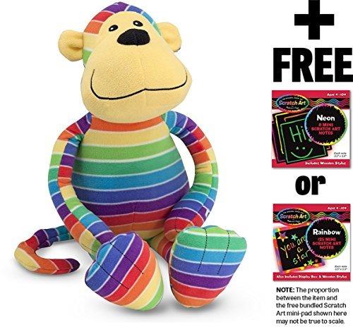 Mack Monkey: Beeposh Plush + FREE Melissa & Doug Scratch Art Mini-Pad Bundle [71536]