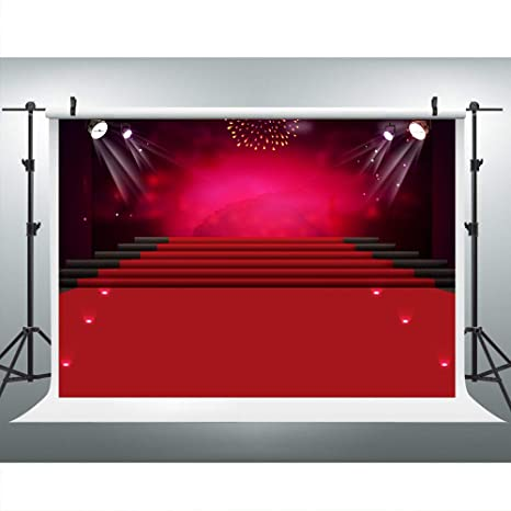 Amazon com : Red Carpet Hollywood Backdrops for Photo, 9x6FT