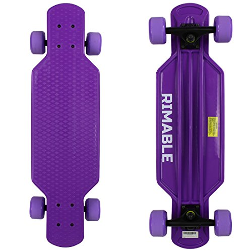 RIMABLE Kids Mini Longboard Skateboard Purple