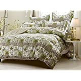 6pc #160;Patchwork Green Brown #160;Bedding Set-Includes Comforter and Duvet Cover - Style # #160;10