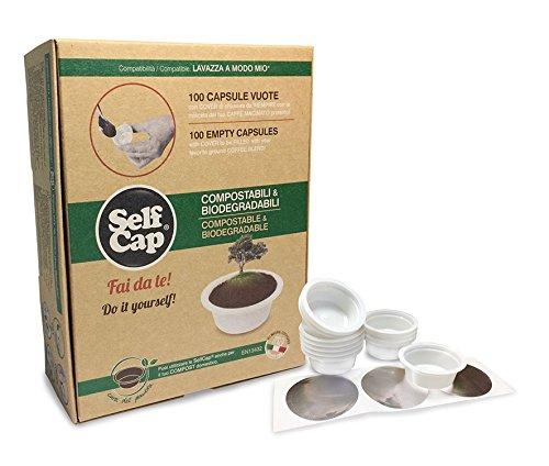 SelfCap Cápsulas de Café COMPOSTABLES Y BIODEGRADABLES para llenar ...