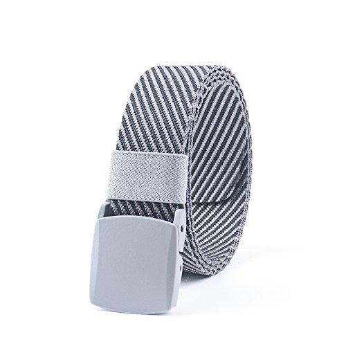 Grey Belt Buckle (JASGOOD Nylon Canvas Breathable Military Tactical Men Waist Belt With Plastic)