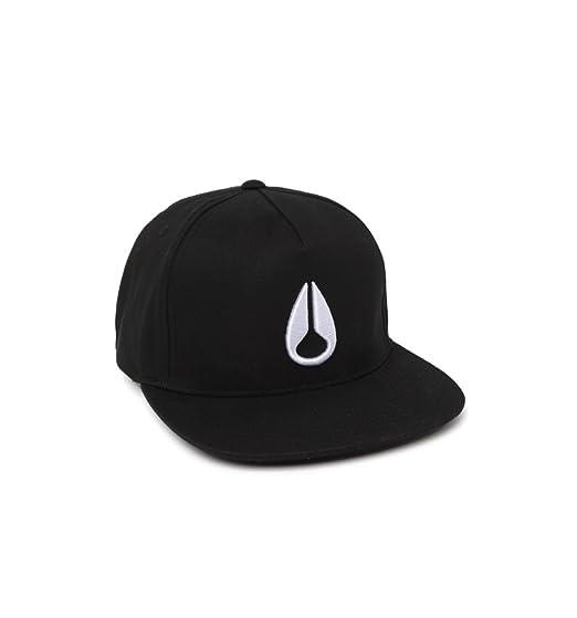 4ade5bc6cba Amazon.com  NIXON Unisex Simon Snapback Hat Black White Hat  Clothing