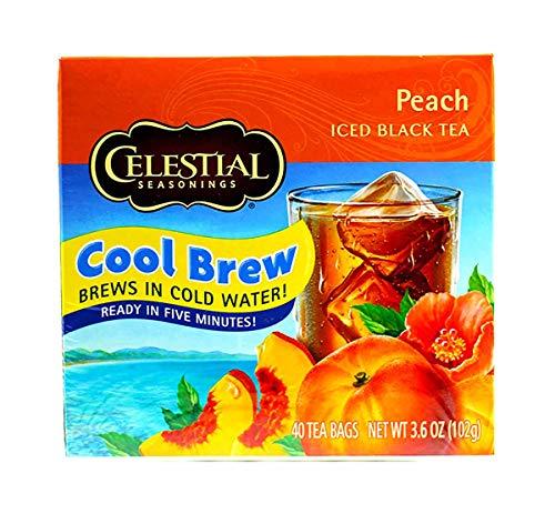 Peach Black Olive - Celestial Seasonings Cool Brew Black Iced Tea, 40 Count Box