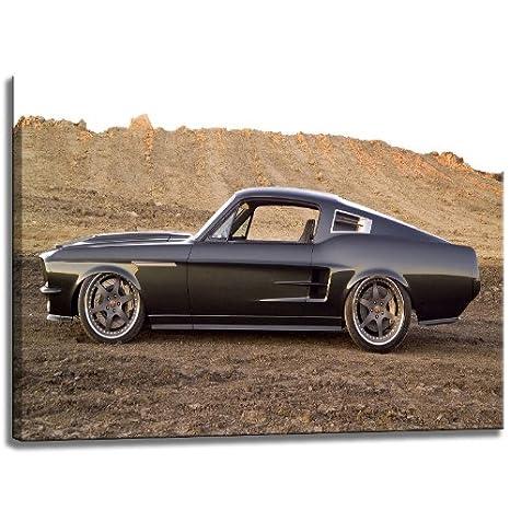 Aceite Escena del coche del músculo sobre lienzo, Tamaño: 100x70 ...