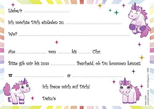 Schön 10 Einhorn Einladungskarten Einhorn Mit Regenbogen/Geburtstagseinladungen  Jungen Mädchen Kinder Für Den Kindergeburtstag, 10 Stück Im Set: Amazon.de:  ...