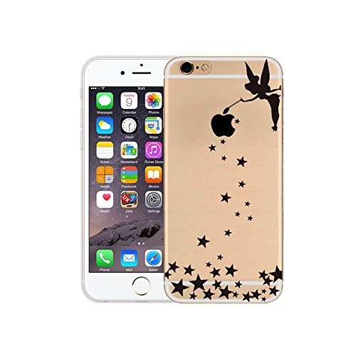 iPhone 5S Cover Silicone, Protettivo Trasparente TPU Shell Case per 4.0 Apple iPhone 5/iPhone SE/iPhone 5S Slim Flessibile Morbide Gel Anti-graffio Crystal Clear Gomma Bumper Case Modello Ragazza di