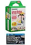#4: Fujifilm Instax Mini Instant Film Bundle with MicroFiber Cleaning Cloth (Single)