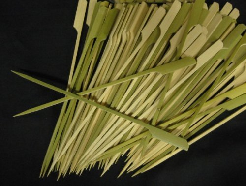 Happy Sales Tapered Heavy Bamboo Skewers 7 Inch 100 (100 Pc Bamboo Skewers)