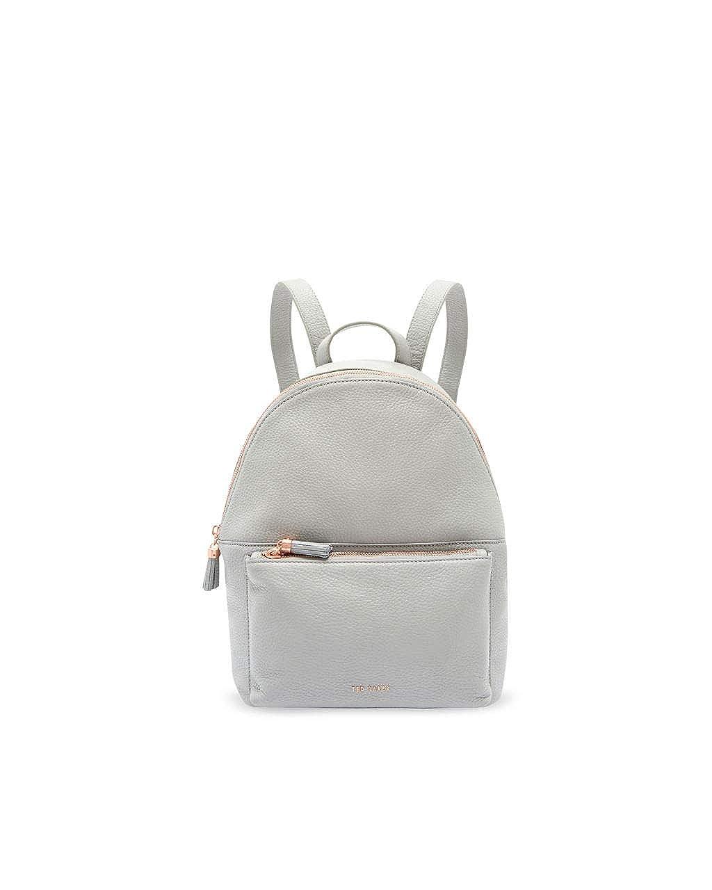 (テッドベーカー) TED BAKER LONDON MOLLYYY Leather tassel backpack レディース バッグ バックパック (並行輸入品) One Size グレー B07PHZVWQP