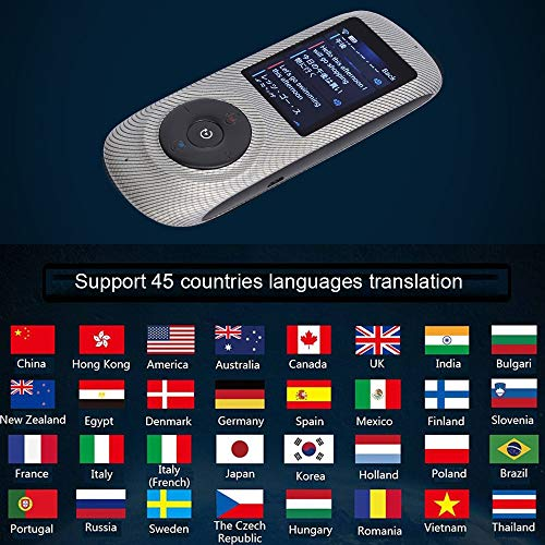 Instant Voice Translator Device Translation 45 Languages Smart 2 Way WiFi 2.4inch IPS Capacitive Touch Screen by Aspiring (Image #6)