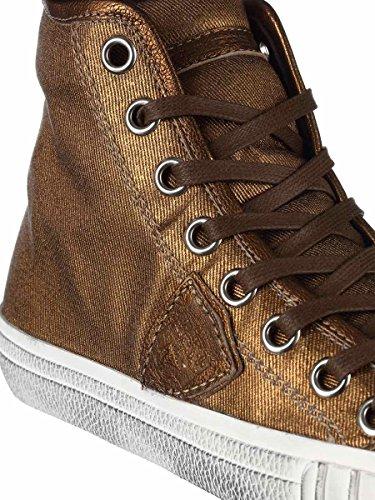 Philippe Model Dames Grhdmj02 Brons Katoen Hi Top Sneakers
