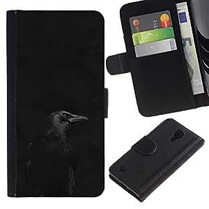 A-type (Black Night Minimalist Peak Dark) Colorida Impresión Funda Cuero Monedero Caja Bolsa Cubierta Caja Piel Card Slots Para Samsung Galaxy S4 IV I9500