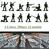 world war 2 army uniform - 3 Color Toy Soldier Military Man Plastic 300pcs Army Men Action Figures Soldiers of WWII Big Bucket of Army Soldiers