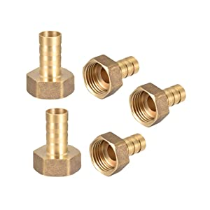 Qzbhct Camessy Metals Brass Hose Fitting 1/2