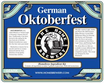 German Oktoberfest Home Beer Brewing Ingredient Kit]()