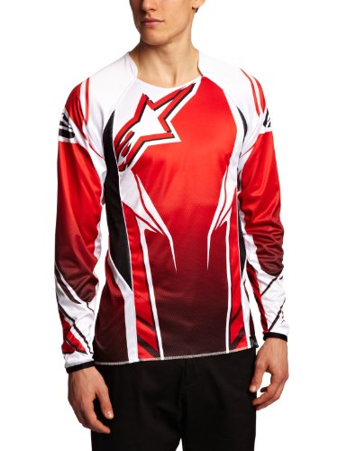 Alpinestars A-Line DH Longsleeve Bicycle Jersey, X-Large, Red/Black