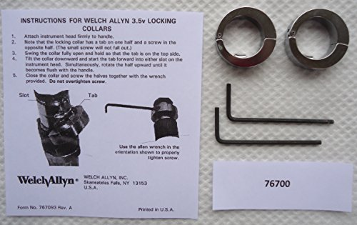 (5669973 PT# 76700 Collars Locking Set FOR Wall Trans FORmers 3.5V 2/Bx Made by Welch-Allyn)