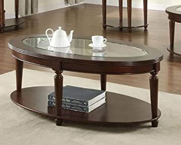Amazoncom Oval Coffee Table Kitchen Dining