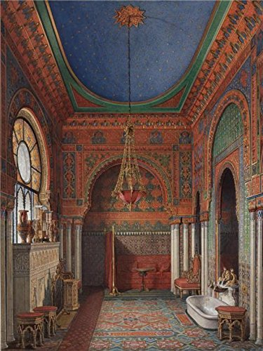 [Oil Painting 'Hau Edward Petrovich,Interiors Of The Winter Palace,The Bathroom Of Empress Alexandra Fyodorovna,1870' 24 x 32 inch / 61 x 81 cm , on High Definition HD canvas prints, Bed Room,] (Party City Costumes Coupons)