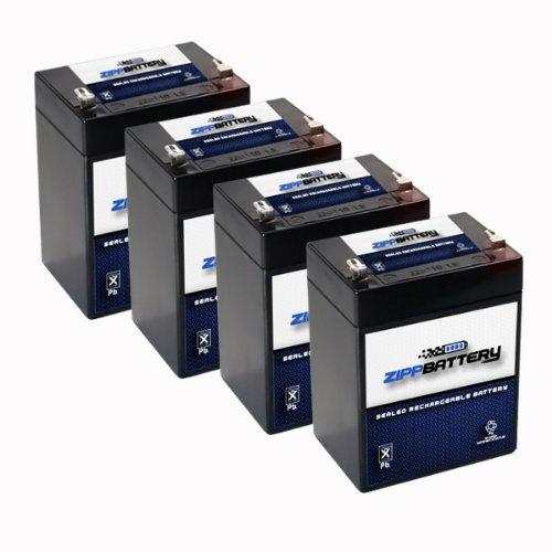 12V 2.9AH Sealed Lead Acid (SLA) Battery - T1 Terminals - for ZB-12-2.9 - 4PK