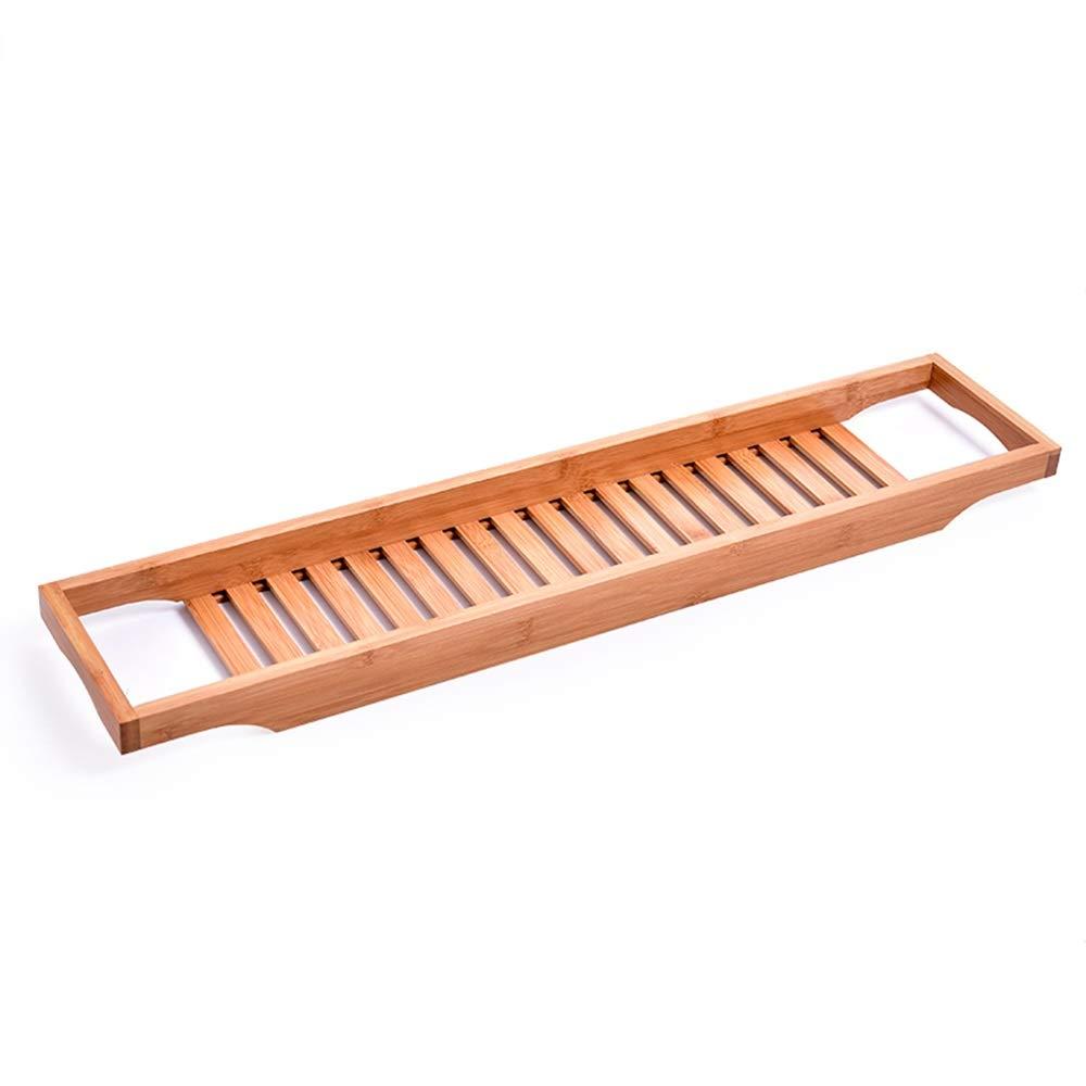 Bathtub Trays HAIZHEN, 100% Natural Bamboo Wooden Bathtub Caddy Bathroom Shower Organizer for Shampoo, Soap, Razors by Bathtub Trays (Image #1)