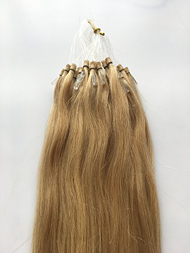 Loops Micro Rings Beads Tipped Brazilian Remy Straight Human Hair Extensions 1g/Strands Size22