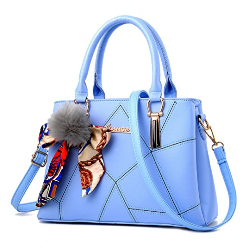 Women Leather Handbags Famous Brands Women Handbag Purse Messenger Bags Shoulder Bag Handbags Pouch Light Blue Max Length 31cm