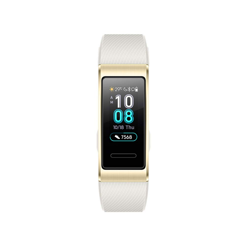 Huawei Band 3 Pro Fitness-Aktivitä tstracker, All-in-One Smart Armband, Herzfrequenz,- und Schlafü berwachung (eingebautes GPS, farbreiches Touch Display, 5 ATM wasserfest)- gold 55023003