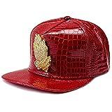 MCSAYS Fashion Hip Hop Style Crystal CZ Iced Out Praying Hnads Jesus Pendant Adjustable Snapback PU Leather Baseball Cap/Hats Sports Hat