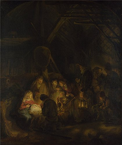 Gas Station Attendant Costume ('Studio of Rembrandt The Adoration of the Shepherds ' oil painting, 24 x 29 inch / 61 x 73 cm ,printed on Perfect effect canvas ,this Amazing Art Decorative Prints)