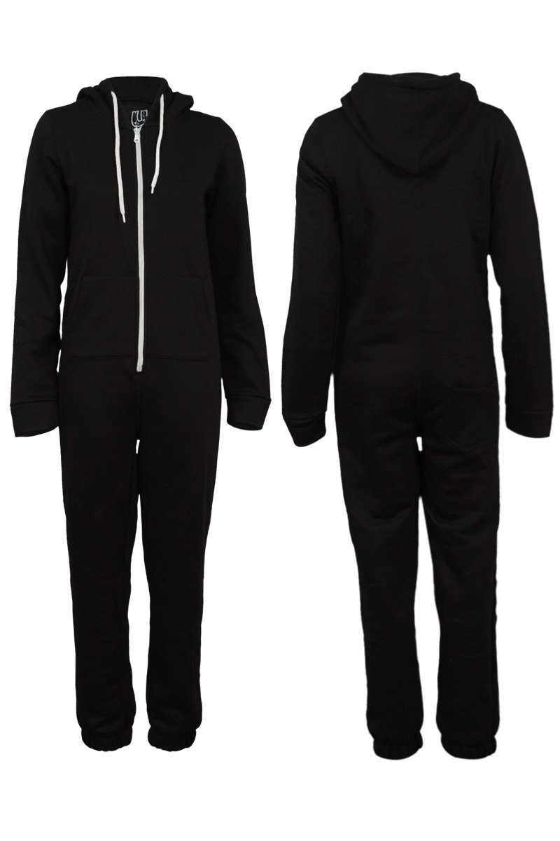 Amazon.com: 66P Womens Zip Up Romper Suit Ladies Hooded Winter Jumpsuit Onesies: Clothing