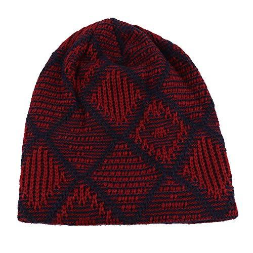 Beanie Hats Warm Mujeres Winter Hombres y Cap 2 Skull IRONLAND Knitting Lana para R1wdqCCcYn
