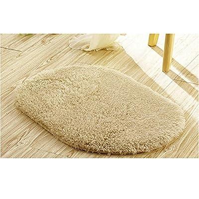 "Ladaidra Bath Mat, Non Slip Bottom Soft Comfortable Washable Cushion, 19.69"" x 11.81"", Light Tan"