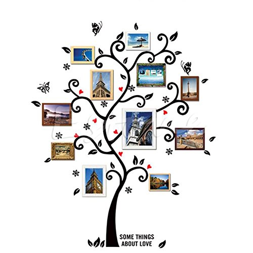 Shalleen Family Tree Wall Decal Sticker Large Vinyl Photo Picture Frame Removable DIY