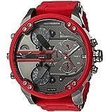 Diesel Men's DZ7370 Mini Daddy Red Silicone Wrap Watch