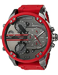 Mens Mr. Daddy 2.0 Multi-movement Red Silicone Wrapped Stainless Steel Watch DZ7370