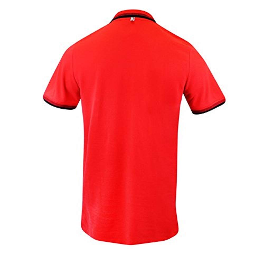 Scuderia Ferrari Mens Formula 1 Authentic Mens Red Contrast Collar Polo