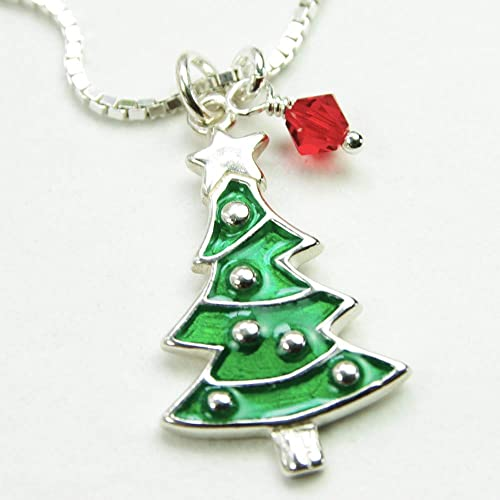 Snowman Winter Necklace Christmas Snowman Necklace Red and Green Holiday Necklace
